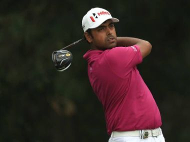 Anirban Lahiri in action at the PGA Championship. Image courtesy: Twitter @anirbangolf