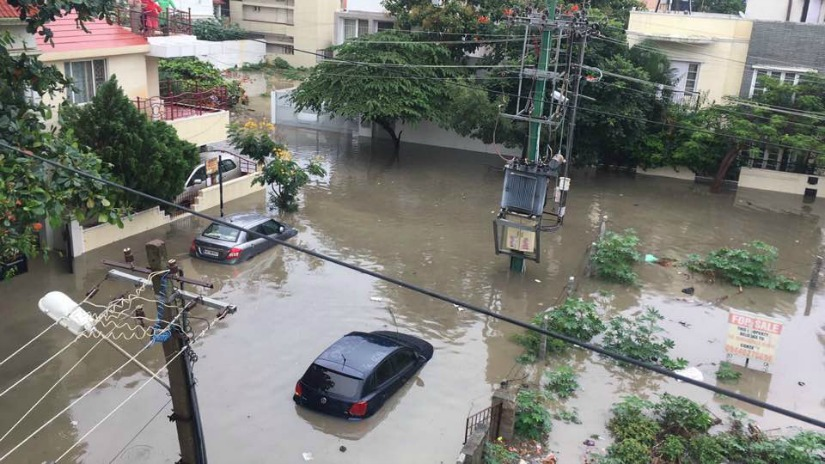 While the rain flooded many parts of the city, most affected were South and West Bengaluru. Image courtesy: Facebook/Priya Chetty-Rajagopal