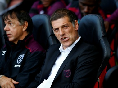 West Ham United's manager Slaven Bilic under pressure as team loses first two Premier League matches. Reuters