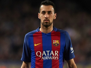 File image of Barcelona's Sergio Busquets. Getty Images