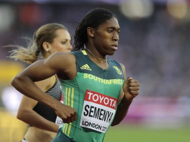 South Africa's Caster Semenya compites at a Women's 800m heat during the World Athletics Championships in London, Thursday, Aug. 10, 2017. (AP Photo/Tim Ireland)