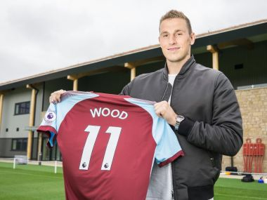 Chris Wood is is reported to have cost Burnley more than £15 million. Image courtesy: Twitter/@BurnleyOfficial