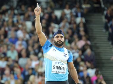 India's Davinder Singh Kang became first India to reach men's javelin throw final. Twitter @afiindia