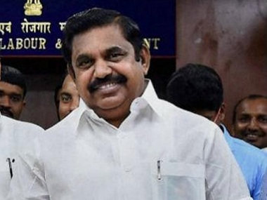 A file image of Tamil Nadu chief minister E Palaniswamy. PTI