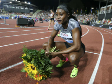 File image of Elaine Thompson. Reuters