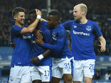 Everton will take a healthy 2-0 lead to Croatia for the second leg. AFP