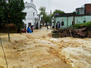 File image of Bihar floods that ravaged the state this year. PTI