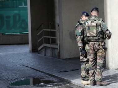 French security forces at the scene of the attack. AP