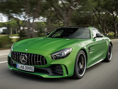 Mercedes-AMG GT R in the green hell magno colour.