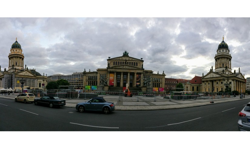 Gendarmenmarkt is one of the most popular squares in Berlin. The French Cathedral is on the right. Image: Nimish Sawant