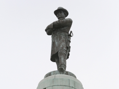The controversial statue of Confederate General Robert E Lee. Reuters.