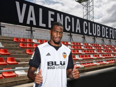 Valencia will reportedly need to pay €25 million to buy Geoffrey Kondogbia at the end of his one-year loan period. Image courtesy: Twitter/@valenciacf