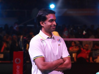 PC Sindhu's coach Pullela Gopichand. Image Courtesy: Twitter @BAI_Media
