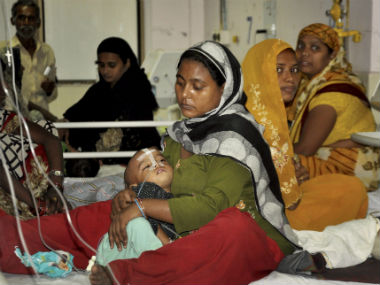File image of the BRD Hospital in Gorakhpur. PTI