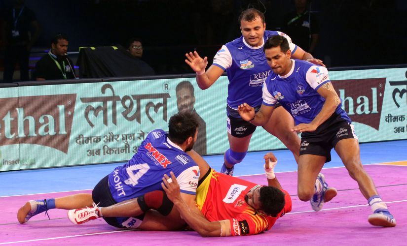 Haryana Stelers' Surender Nada and Mohit Chhillar helped them secure their first win of the season. PKL
