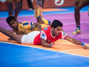 Haryana Steelers and Tamil Thalaivas play out a thrilling match to a tie. Twitter/@HaryanaSteelers
