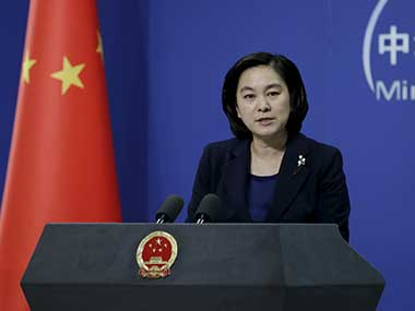 File image of Hua Chunying, spokeswoman of China's Foreign Ministry. Reuters