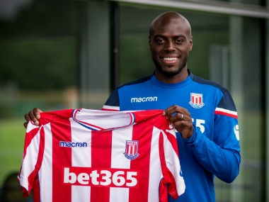 Bruno Martins Indi signs a five-year contract with Stoke City. Twitter/@stokecity