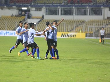 Indian football team during the game against Chile. Image courtesy: Twitter @IndianFootball
