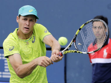 JC Aragone in action during the first round of US Open. AP