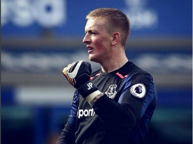 Everton's goalkeeper Jordan Pickford. Image Courtesy: Instagram @jpickford1
