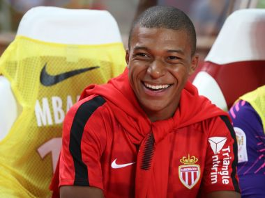 AS Monaco left Kylian Mbappe on the bench against Marseille with the striker set to join PSG. AFP