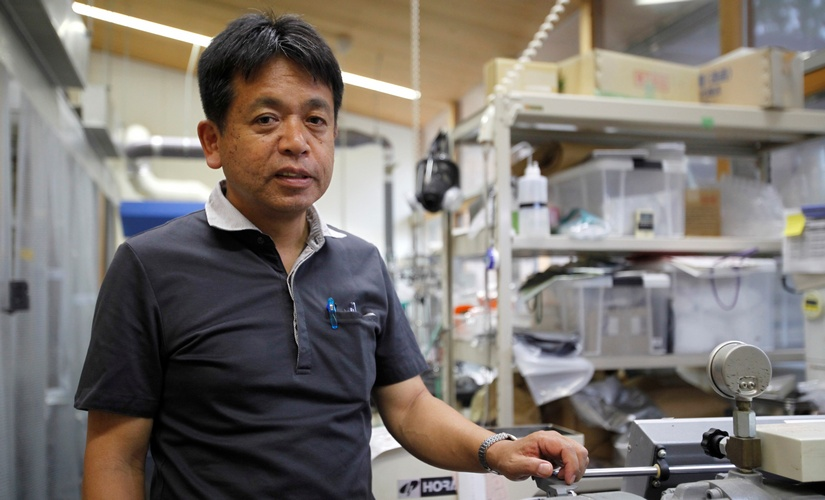 Kyoto University Professor Hiroyuki Yano, who is leading the research into using wood pulp fibers to make lighter auto parts. Reuters.