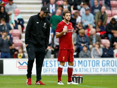 Jurgen Klopp says Adam Lallana will be out for two months. Reuters