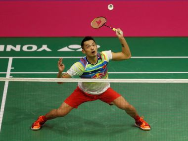 China's Lin Dan in action versus South Korea's Son Wan Ho. Reuters