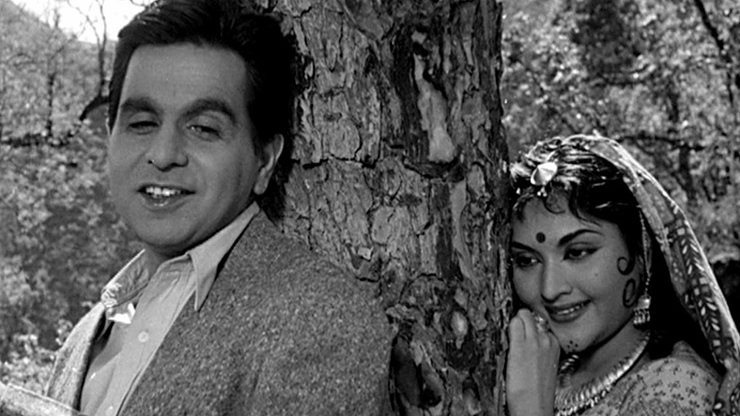 Dilip Kumar and Vyjayanthimala in a still from Bimal Roy's Madhumati (1958)