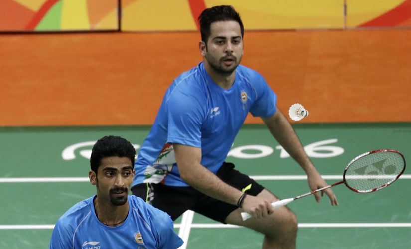 File image of Sumeeth REddy (front) and Manu Attri in action at the Rio Olympics. AP
