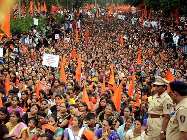 57 protests have been held by the Maratha community across Maharashtra. PTI