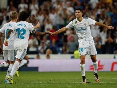 Marco Asensio struck late to secure Real Madrid a point against Valencia. Reuters