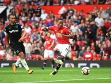 Anthony Martial came on as a substitute and scored a goal in Manchester United's 4-0 win over West Ham United. Image Courtesy: Twitter @AnthonyMartial
