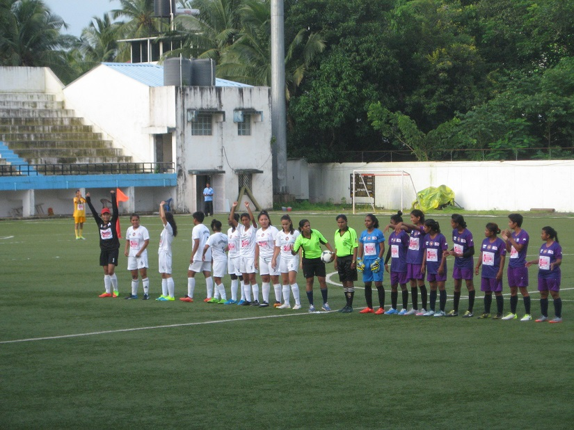 Jyoti's team, at the start of a match