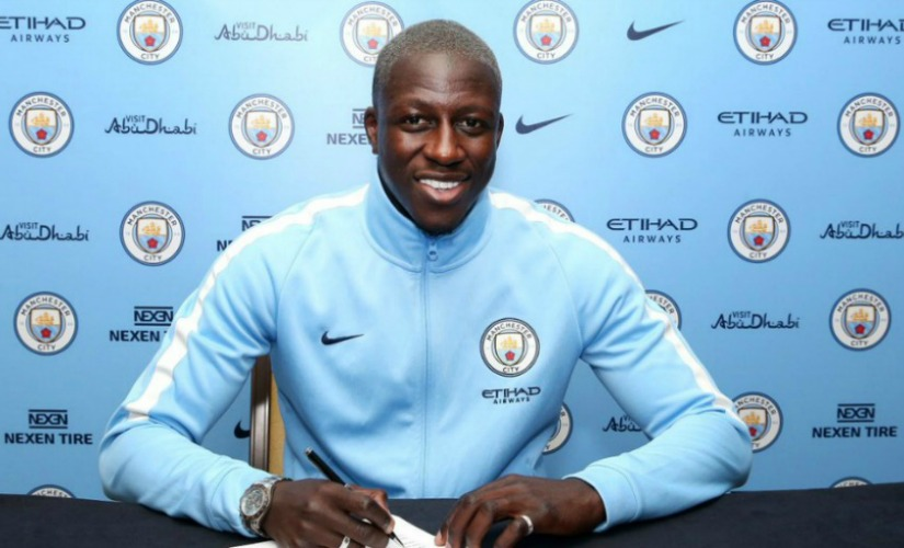 Benjamin Mendy became the most expensive defender in the world by signing with Manchester City. Twitter/@benmendy23