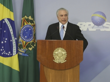 File image of Michel Temer. AP
