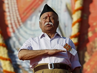A file image of RSS chief Mohan Bhagwat. Reuters