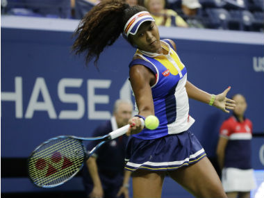 Naomi Osaka in action against Angelique Kerber during the first round of US Open. AP