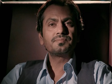 Nawazuddin Siddiqui on Blush's video - 'Ajab Gaaliyan'. Screen grab via YouTube.