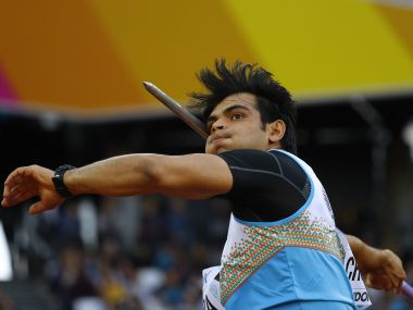 Athletics - World Athletics Championships – men's javelin throw – London Stadium, London, Britain – August 10, 2017 – Neeraj Chopra of India competes. REUTERS/Kai Pfaffenbach - RTS1B8R6