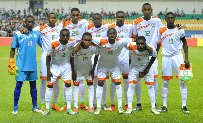Niger U17 team poses ahead of crucial game against Ghana in the 2017 U-17 AFCON tournament. Credit: CAFonline
