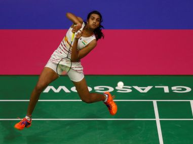 PV Sindhu  in action against China's Chen Yufei. Reuters