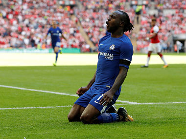 Soccer Football - Chelsea vs Arsenal - FA Community Shield - London, Britain - August 6, 2017 Chelsea's Victor Moses celebrates scoring their first goal REUTERS/Darren Staples - RTS1AM13