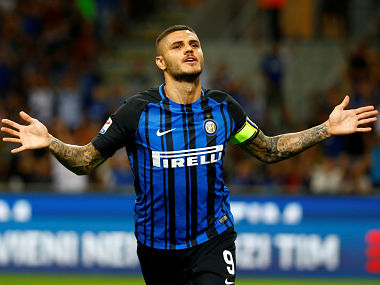 Soccer Football - Serie A - Inter Milan vs Fiorentina - Milan, Italy - August 20, 2017 Inter Milan's Mauro Icardi celebrates scoring their second goal REUTERS/Stefano Rellandini TPX IMAGES OF THE DAY - RTS1CKE3