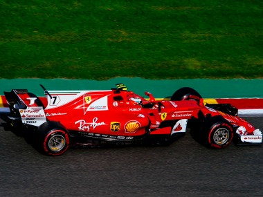 Kimi Raikkonen was still on top after third and final practice session. Image Courtesy: Twitter @ScuderiaFerrari