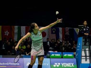 Ratchanok Intanon in action in the women's final. Image courtesy: Twitter @NZBadOpen