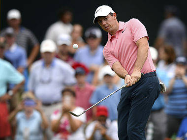 Rory McIlroy during practice for the PGA Championship golf tournament at Quail Hollow Club. AP