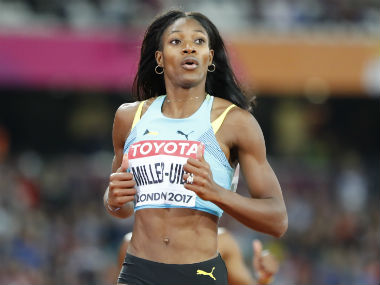 Shaunae Miller-Uibo in action at the World Championships in London. Reuters