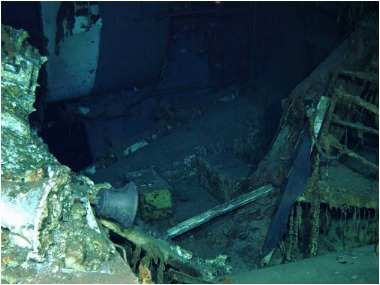 Wreckage of lost Ship. AP